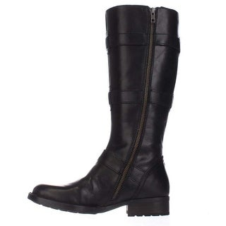 Born Womens Falmouth Leather Round Toe Knee High Fashion Boots