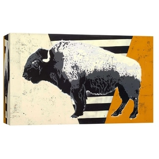 "PTM Images 9-103739  PTM Canvas Collection 8"" x 10"" - ""Bison"" Giclee Buffalo Art Print on Canvas"