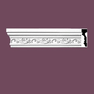 Crown Molding White Urethane 4 1/2 H Savannah Ornate