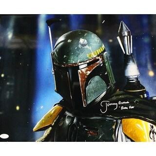 Jeremy Bulloch Autographed Star Wars Boba Fett 16x20 Photo Horizontal JSA PSM