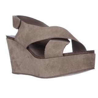 STEVEN by Steve Madden Genesis Wedge Criss-Cross Sandals - Taupe