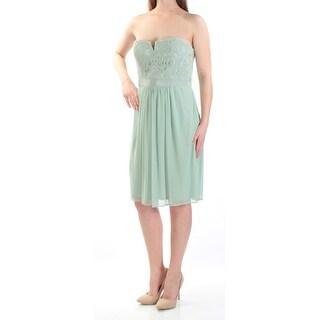 Adrianna Papell Mint Green Women Size 4 Lace Strapless Sheath Dress