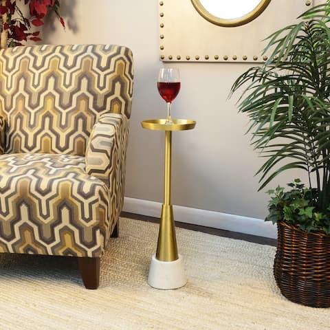 Ilia Small Drink Table, Gold