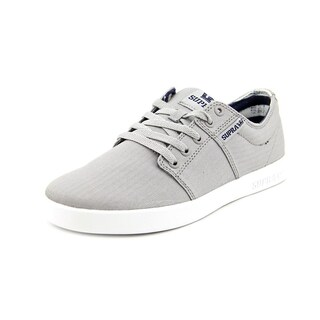SUPRA Mens Stacks II Canvas Low Top Lace Up Skateboarding Shoes - 7