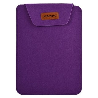 13.3 Wool Felt Protective Notebook Laptop Sleeve Bag for Tablet PC Purple