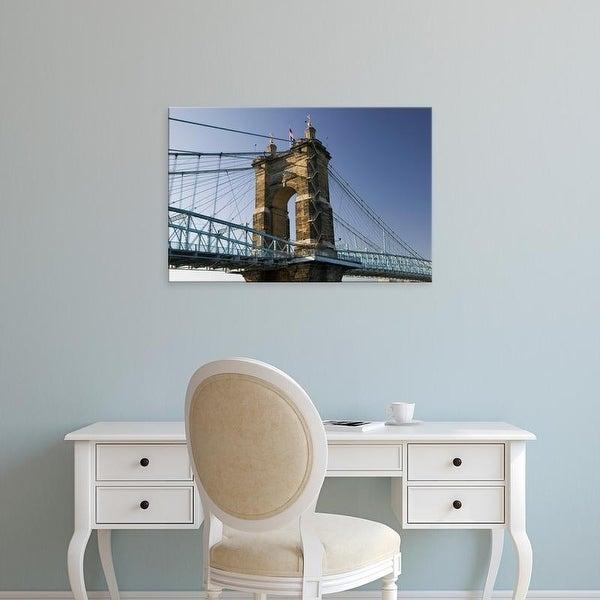 Easy Art Prints Walter Bibikow's 'Roebling Suspension Bridge' Premium Canvas Art