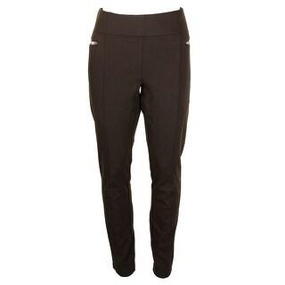 Inc International Concepts Dark Green Skinny Pull-On Moto Pants - 16