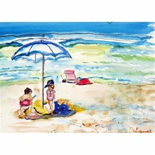 Betsy Drake DM391G Children At The Beach Door Mat Large