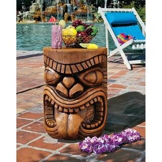Design Toscano The Lono (Tongue) Grand Tiki Sculptural Table