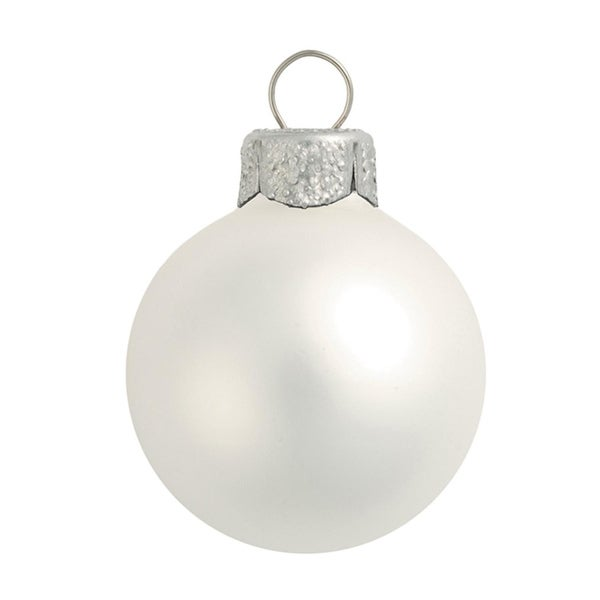 """40ct Matte Silver Glass Ball Christmas Ornaments 1.5"""" (40mm)"""