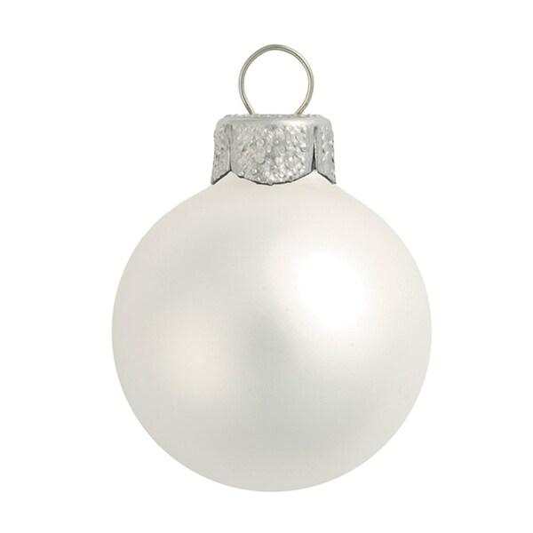 "Matte Silver Glass Ball Christmas Ornament 7"" (180mm)"