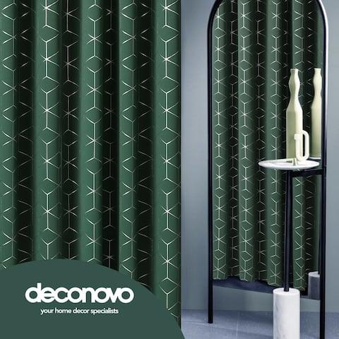 Deconovo Decorative Silver Diamond Curtains 2 Panels