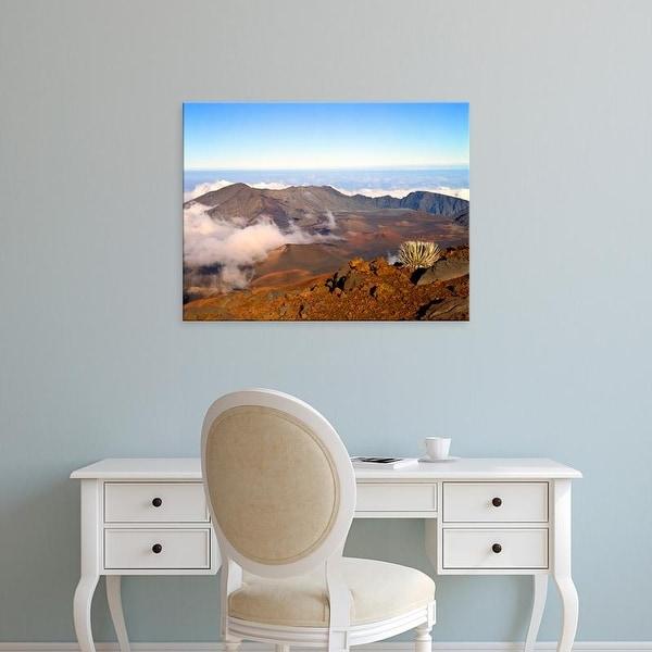 Easy Art Prints Bernard Friel's 'Haleakala Crater' Premium Canvas Art