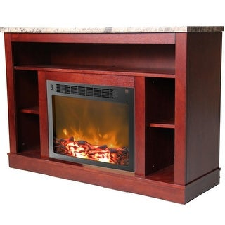 Cambridge Seville CAM5021-1MAH Fireplace Mantel with Electronic Fireplace Insert, Mahogany
