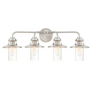 "Designers Fountain 91504 Dover 4 Light 29-3/4"" Wide Bathroom Vanity Light with S"
