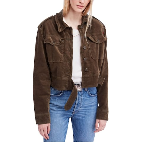 Free People Womens Everlyn Military Jacket