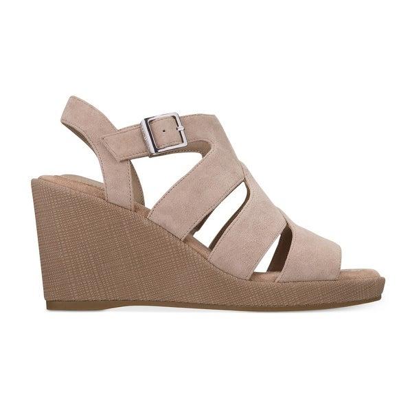 Giani Bernini Womens Wirla Leather Open Toe Casual Platform Sandals