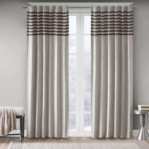 Madison Park Canyon Grey/ Black Window Curtain Panel Pair