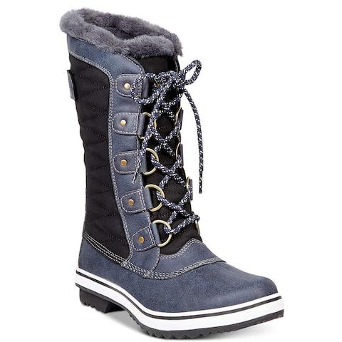 Jambu Womens Lorna Round Toe Mid-Calf Cold Weather Boots