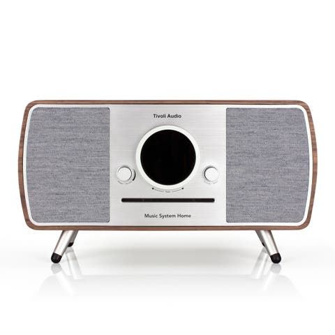Tivoli Audio Music System Home All-In-One Music System with Amazon Alexa Voice Assistance (Walnut)