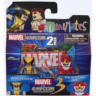 Marvel Vs Capcom 3 Minimates Series 2 Wolverine & Viewtiful Joe