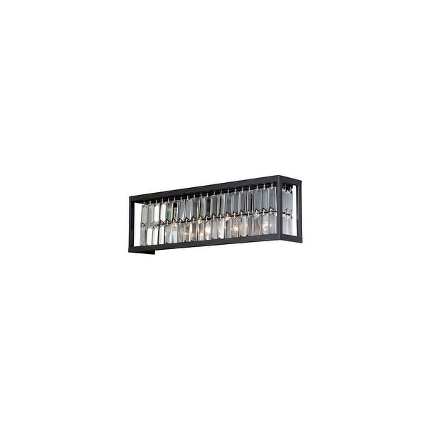 Vaxcel Lighting W0211 Catana 4 Light Wall Sconce with Clear Crystal Shade - Oil Rubbed bronze
