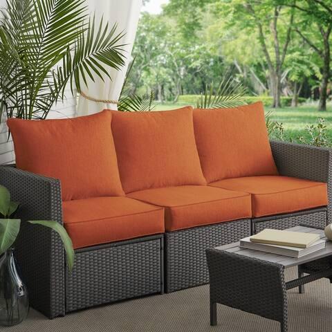 Clara Sunbrella Outdoor Wicker Sofa 6-piece Cushion Set