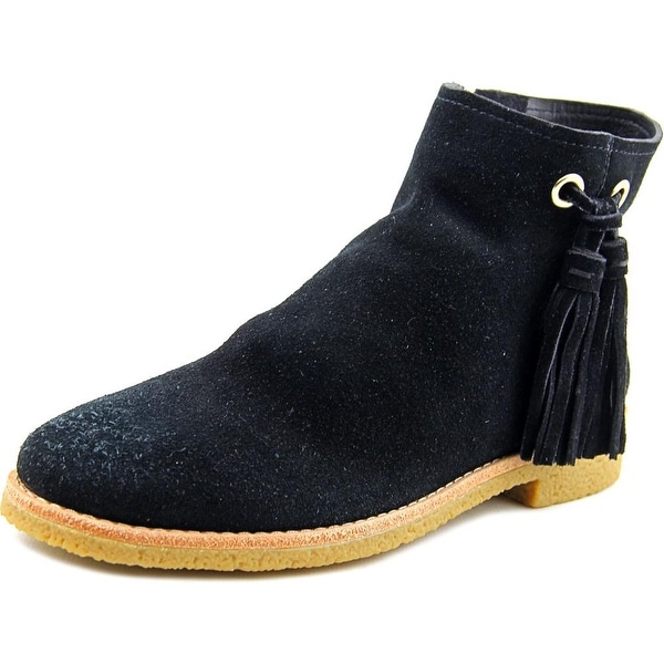 Kate Spade Bellamy Women Round Toe Suede Black Ankle Boot