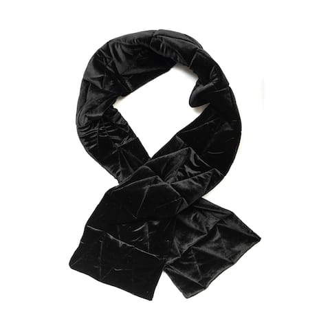 Vince Camuto Women's Velvet Puff Chevron Quilted Scarf