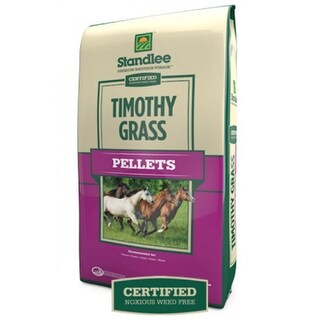Standlee 1275-30111-0-0 Premium Western Forage Certified Timothy Grass Pellets, 40 Lb