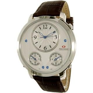Precimax Men's Roosevelt PX16001 Brown Leather Japanese Quartz Dress Watch