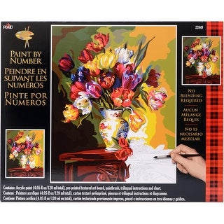 """Paint By Number Kit 16""""X20""""-Tulips On Parade"""