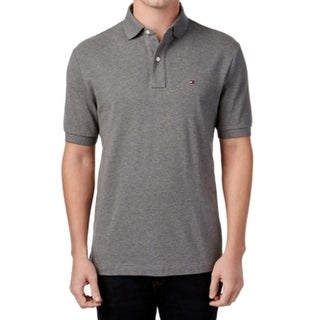 Tommy Hilfiger NEW Gray Mens Size 3XL Polo Rugby Ribbed Hem Shirt