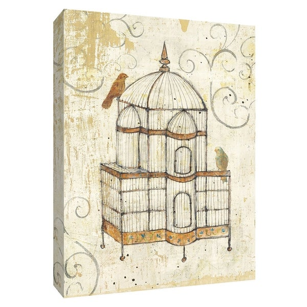 """PTM Images 9-154908 PTM Canvas Collection 10"""" x 8"""" - """"Bird Cage I"""" Giclee Birds Art Print on Canvas"""