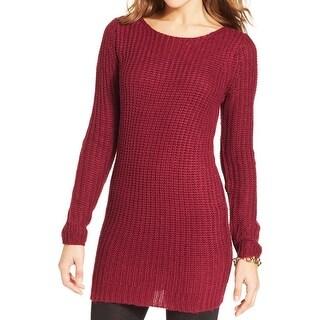 Planet Gold Womens Juniors Sweaterdress Ribbed Kint Sheath