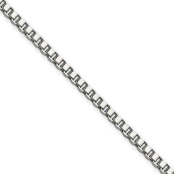 Chisel Stainless Steel 2.0mm 22 Inch Box Chain (2 mm) - 22 in