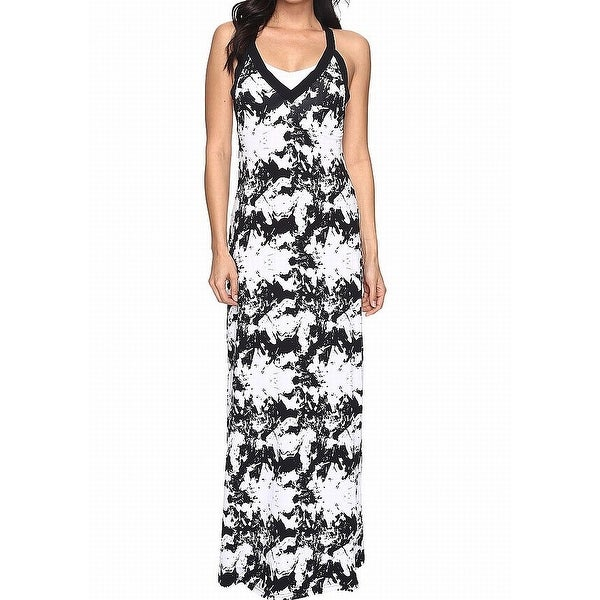 5cde3ac1d98 Shop Soybu Black Womens Size Small S Built-In-Bra Printed Maxi Dress - On  Sale - Free Shipping Today - Overstock - 27755656