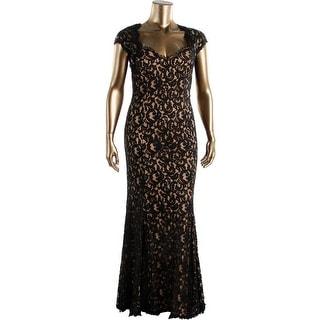 Tadashi Shoji Womens Lace Prom Evening Dress