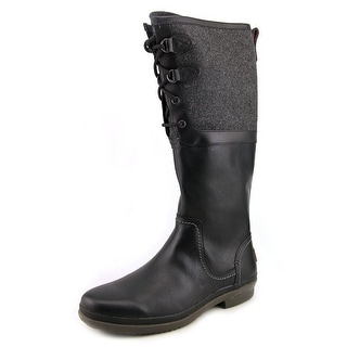 Ugg Australia Elsa Women  Round Toe Leather Black Knee High Boot