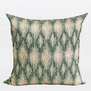 """G Home Collection Luxury Green European Classical Pattern Embroidered Pillow 20""""X20"""""""