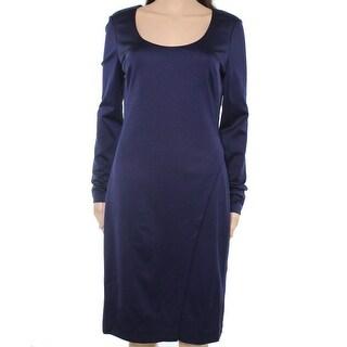 Lauren Ralph Lauren NEW Blue Womens Size 8 Scoop Neck Sheath Dress
