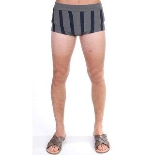 Dolce & Gabbana Gray Cotten Blend Logo Casual Short Shorts
