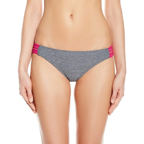 220d79a1a4f66 Shop Oakley Gray Womens Size XS Spider Two-Toned Bikini Bottom Swimwear - On  Sale - Free Shipping On Orders Over $45 - Overstock - 27024224