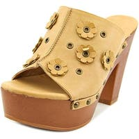 Dolce by Mojo Moxy Janis Studded Clog Women Natural Clog Mules