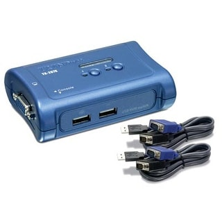 Trendnet 2-Port Usb Kvm Switch And Cable Kit, Device Monitoring, Auto-Scan, Audible Feedback, Usb 1.1, Windows, Linux, T