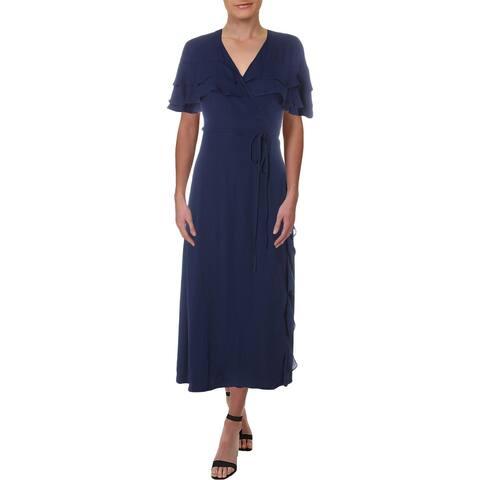 1.State Womens Kenya Wrap Dress Ruffled Night Out - XS