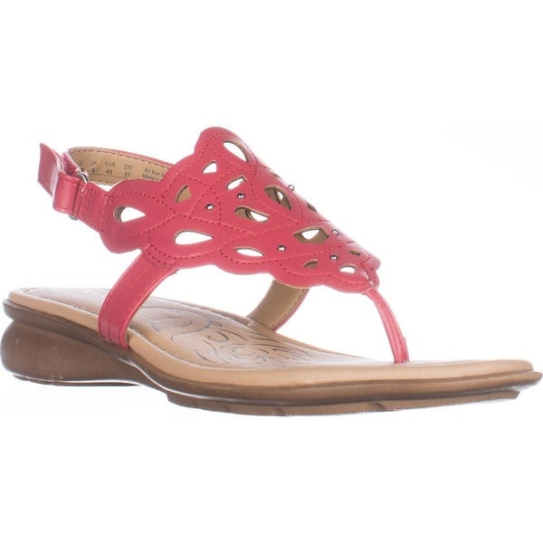 naturalizer Jade Thong Round Toe Sandals, Coral