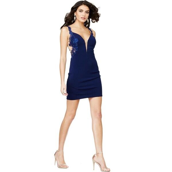 Shop Jvn By Jovani Womens Semi Formal Dress Lace Rhinestone Free