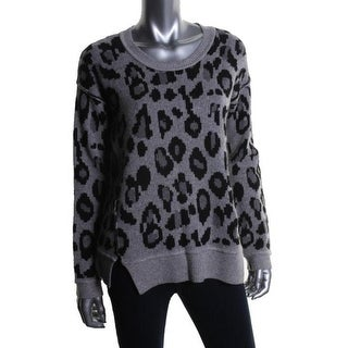 Aqua Womens Cashmere Long Sleeves Pullover Sweater - S