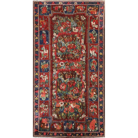 """Vegetable Dye Traditional Bakhtiari Persian Wool Area Rug Hand-knotted - 5'3"""" x 9'7"""""""